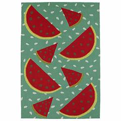 Kaleen Sea Isle Watermelon Hand Tufted Rectangular Rugs