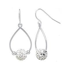 Crystal Ball Sterling Silver Earrings
