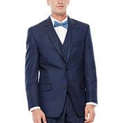IZOD® Navy Sharkskin Suit Jacket - Classic Fit