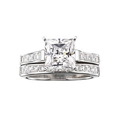 DiamonArt® Cubic Zirconia 3 3/4 CT. T.W. Bridal Ring Set