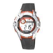 Armitron® Pro-Sport Mens Gray Resin Strap Chronograph Sport Watch 40/8351ORGJ
