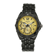 Armitron® All-Sport® Mens Black Stainless Steel Watch 20/4664GDTI