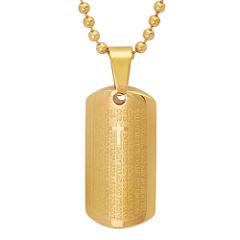 Mens 18K Pendant Necklace