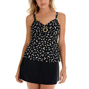 Trimshaper ® Polka DotTankini or Swim Skirt Bottoms