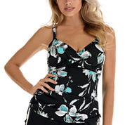 Trimshaper Floral Tankini Swimsuit Top