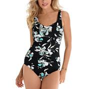 Trimshaper Floral One Piece Swimsuit