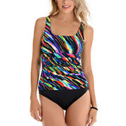 Trimshaper Solid One Piece Swimsuit