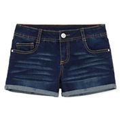Total Girl Denim Shortie Shorts - Big Kid