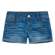 Total Girl Denim Shortie Shorts - Big Kid Girls