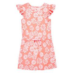 Okie Dokie Short Sleeve Cap Sleeve Sundress - Preschool Girls