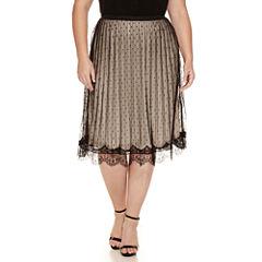 Worthington® Knit Pleated Skirt - Plus