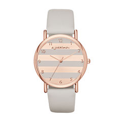 Arizona Womens Gray Strap Watch-Fmdarz132