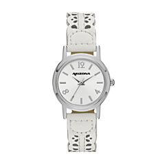 Arizona Womens White Strap Watch-Fmdarz148