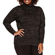 Alyx Long Sleeve Cowl Neck Sweater-Plus