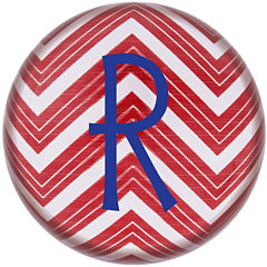Cathy's Concepts Chevron Personalized Domed Glass Paperweight