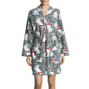 Pj Couture Long Sleeve Wrap Robe-Juniors