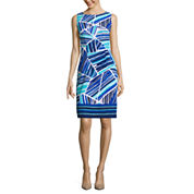Alyx Sleeveless Geo Lines Sheath Dress