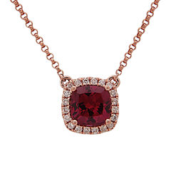 LIMITED QUANTITIES! 1/7 CT. T.W. Red Rhodolite 14K Gold Pendant Necklace