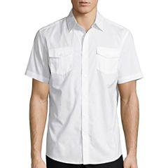 Claiborne Short Sleeve 2 Pocket Button-Front Shirt