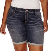 Arizona Denim Bermuda Shorts Juniors Plus