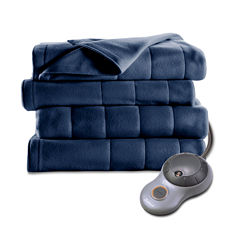 Sunbeam Heated Quilted Fleece Electric Blanket