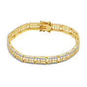 Sparkle Allure White Diamond Chain Bracelet