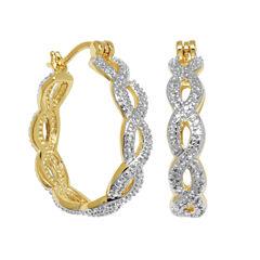 Sparkle Allure Hoop Earrings
