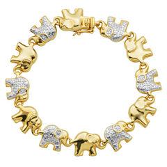 Sparkle Allure White Diamond Bangle Bracelet
