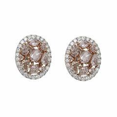 2 1/3 CT. T.W. Pink Diamond 18K Gold Stud Earrings