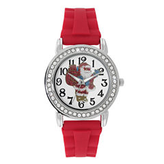 Mixit™ Womens Red Christmas Tree Watch
