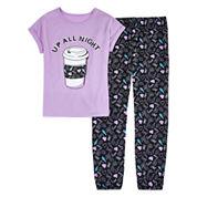 Total Girl Girls Short Sleeve Pant Pajama Set-Big Kid