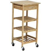 Oceanstar® Bamboo Kitchen Trolley