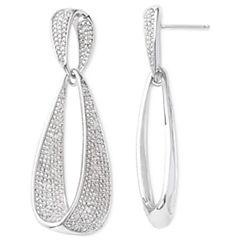Diamond Addiction 1/10 CT. T.W. Diamond Dangle Drop Earrings
