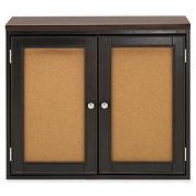 Create Your Space 2-Door Corkboard Storage Cubby