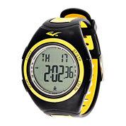 Everlast® Pedometer Yellow/Black Silicone Strap Sport Watch