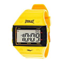 Everlast® Yellow Silicone Strap Digital Sport Watch