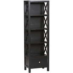 Anna Collection Tall Narrow 5-Shelf Bookcase