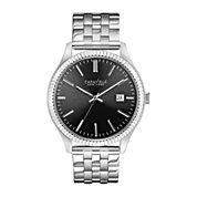 Caravelle New York® Mens Gray Round Dial Silver-Tone Dress Watch 43B131