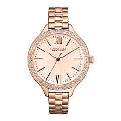 Caravelle New York® Womens Rose-Tone Dial & Bracelet Watch 44L125