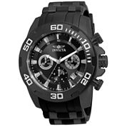 Invicta Mens Black Strap Watch-22338