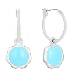 Liz Claiborne Blue Hoop Earrings