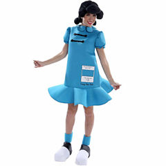 Peanuts: Lucy Deluxe Costume for Adults - Small (6-8)