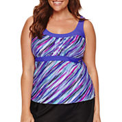 Zeroxposur Solid Tankini Swimsuit Top-Plus