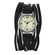Decree Womens Black Strap Watch-Pt1692
