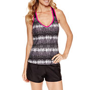 ZeroXposur Knit Mesh Action Tankini or Knit Action Swim Shorts
