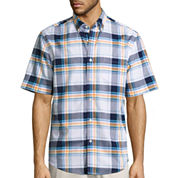 St. John's Bay® Short-Sleeve Button-Front Easy-Care Shirt