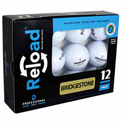 12 Pack of Bridgestone Recycled Golf Balls.