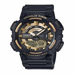 Casio Table Mens Gold Tone Strap Watch-Aeq110bw-9pb