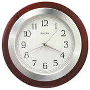 Bulova Reedham White Wall Clock-C4228