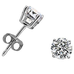 3/8 CT. T.W. Round White Diamond 14K Gold Stud Earrings